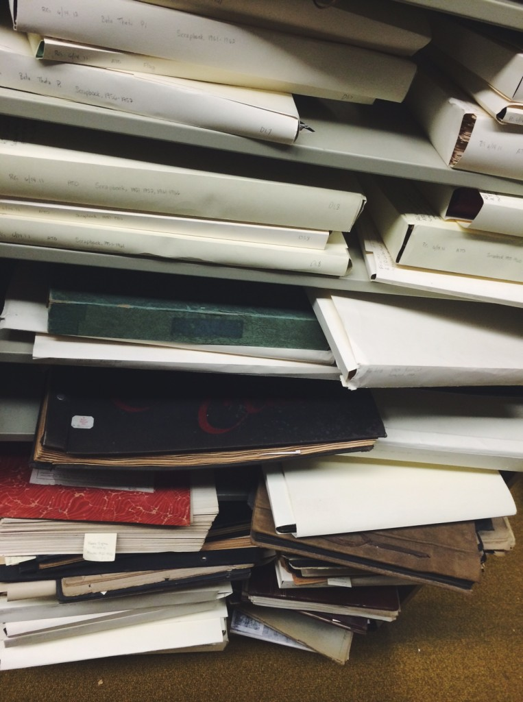 A few of the scrapbooks that Jan referred to - plenty of material to work with!