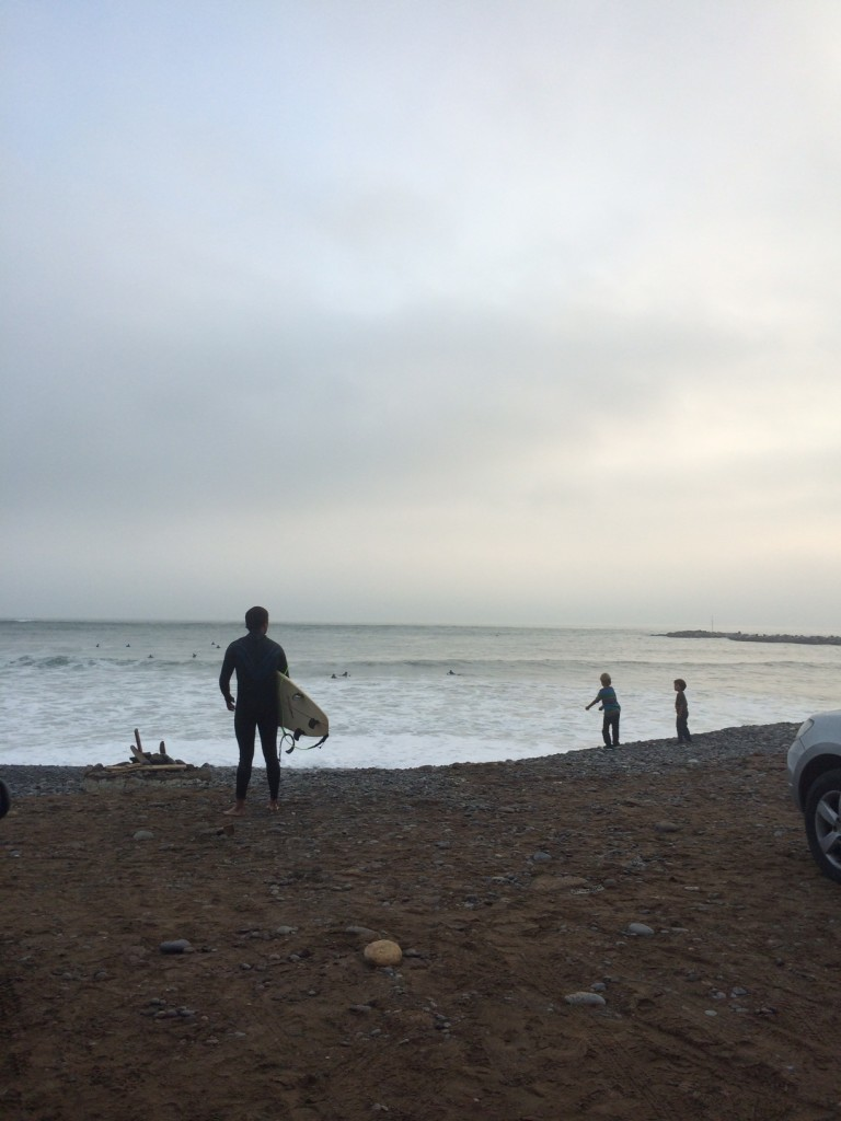 The Pacific Ocean! On my last day in Peru, I walked from Barranco to Miraflores along the beaches.