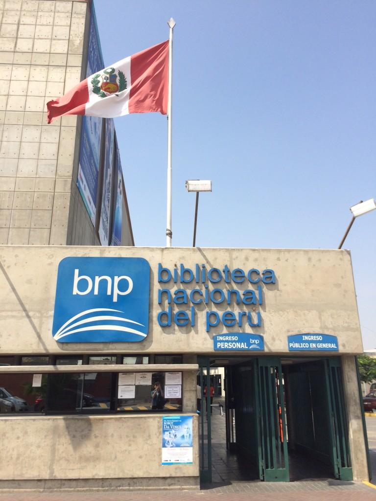 Biblioteca Nacional del Perú, down the street from Ministerio de Cultura, where HASTAC 2014 was held.