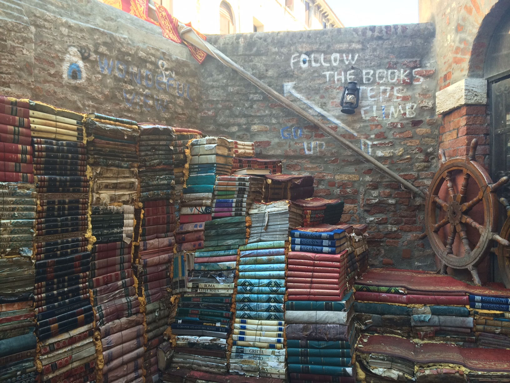 Libreria Acqua Alta in Venice, possibly the best/ most beautiful bookstore in the world.