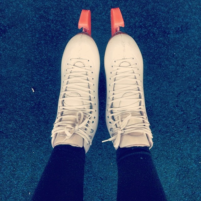 February 2014: I went skating for the first time in.... 4 years? Turns out I can still land a few double jumps, but it was hard.