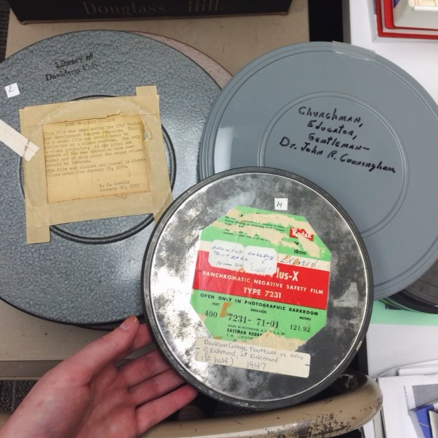 November 2014: Home Movie Day provided the opportunity for me to play around with Davidson's archival films, and actually screen a few of them.